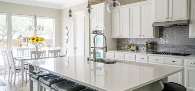 Illuminate! How to Coordinate Your Kitchen Area with White Cabinets